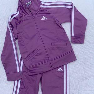 Adidas purple warm up